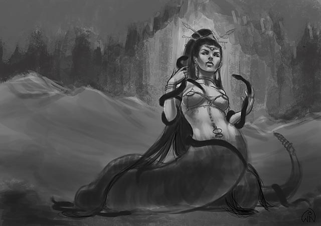 Snakewoman sketch