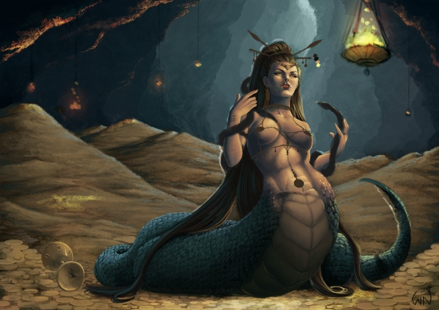 Snakewoman sketch 14