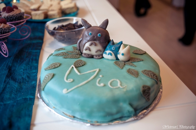 And here, I present you the cake! Totoro cake!