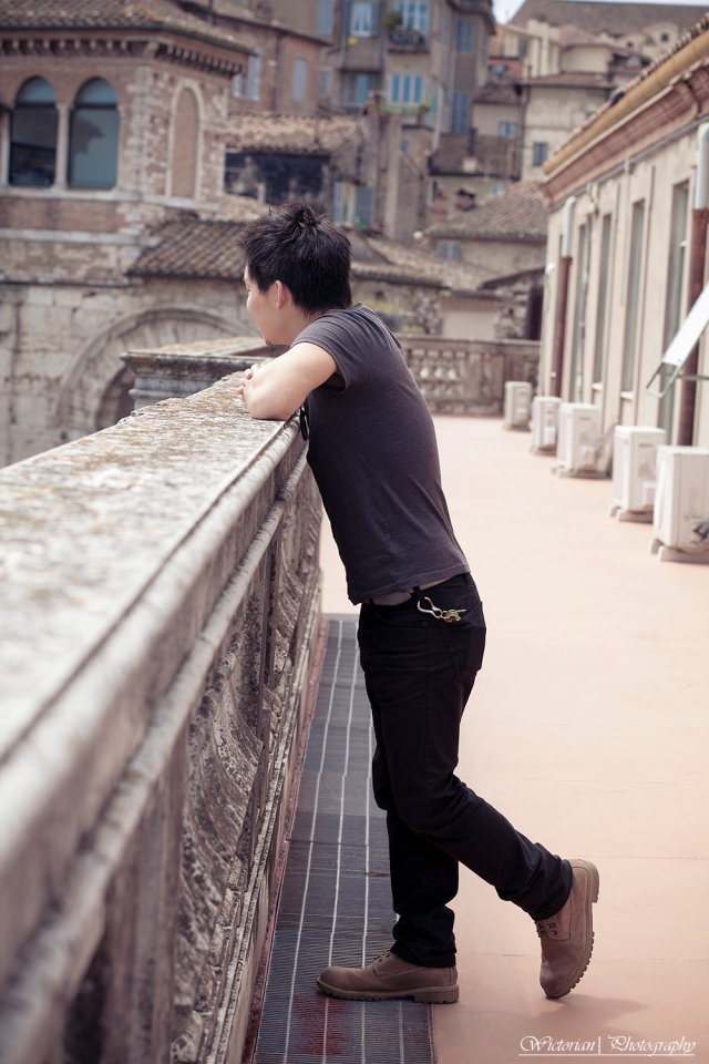 The japanese guy who took me on top of the roof of the university