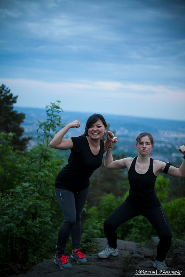 Strong girls. Or, one girl and Leonardo DiCaprio (to the right)
