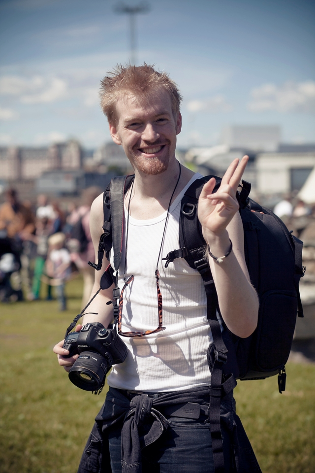 Met Sigmund, my photographer friend, at the festival