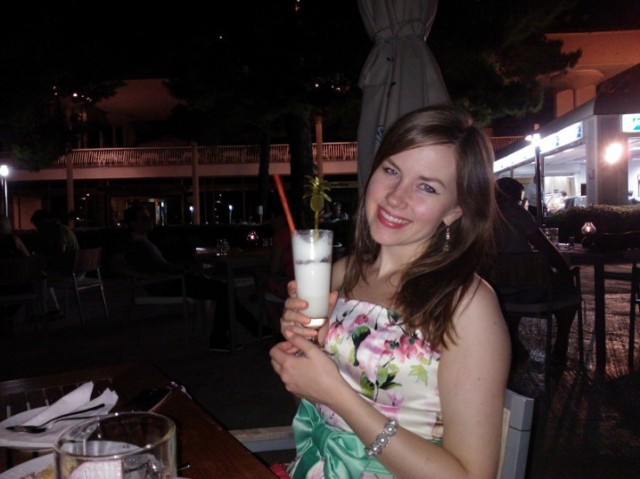 Aaaand Pina Colada! They had the best Pina Coladas at the beach bar!