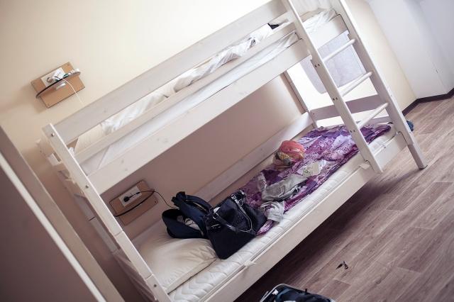My hostel bed. Quite cozy